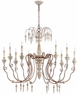 Quorum 6352-10-56 La Maison Traditional Manchester Grey w/ Rust Accents Chandelier Lighting