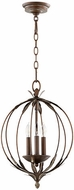 Quorum 6372-3-39 Flora Vintage Copper Hanging Lamp