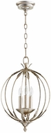 Quorum 6372-3-60 Flora Aged Silver Leaf Hanging Light
