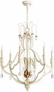 Quorum 644-6-70 Venice Traditional Persian White Chandelier Lighting