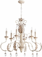 Quorum 6444-6-70 Venice Traditional Persian White Ceiling Chandelier