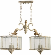 Quorum 6537-6-70 Florence Traditional Persian White Kitchen Island Light Fixture