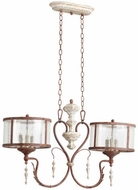 Quorum 6552-6-56 La Maison Traditional Manchester Grey w/ Rust Accents Island Lighting