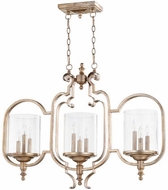 Quorum 6580-9-60 Chalon Modern Aged Silver Leaf Island Light Fixture
