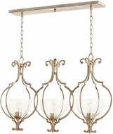 Quorum 6614-3-60 Ansley Traditional Aged Silver Leaf Kitchen Island Lighting