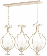 Quorum 6614-3-70 Ansley Traditional Persian White Kitchen Island Light