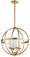 Quorum 662-4-80 Highline Contemporary Aged Brass Pendant Lighting Fixture