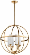 Quorum 662-6-80 Highline Modern Aged Brass Hanging Pendant Lighting