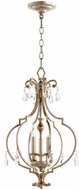 Quorum 6714-3-60 Ansley Traditional Aged Silver Leaf Foyer Lighting