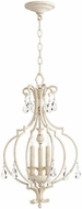 Quorum 6714-3-70 Ansley Traditional Persian White Foyer Light Fixture