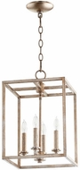 Quorum 6731-4-60 Cuboid Aged Silver Leaf 11  Entryway Light Fixture
