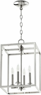 Quorum 6731-4-62 Cuboid Polished Nickel 11  Foyer Lighting