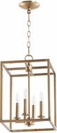Quorum 6731-4-80 Cuboid Aged Brass 11  Foyer Lighting Fixture