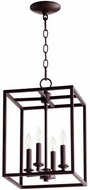 Quorum 6731-4-86 Cuboid Oiled Bronze 11  Entryway Light Fixture