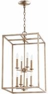 Quorum 6731-8-60 Cuboid Aged Silver Leaf 14  Foyer Lighting