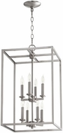 Quorum 6731-8-65 Cuboid Satin Nickel 14  Foyer Lighting Fixture