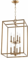 Quorum 6731-8-80 Cuboid Aged Brass 14  Entryway Light Fixture