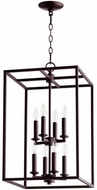 Quorum 6731-8-86 Cuboid Oiled Bronze 14  Foyer Lighting