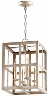 Quorum 6732-4-60 Cuboid Aged Silver Leaf 12  Foyer Light Fixture