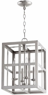 Quorum 6732-4-65 Cuboid Satin Nickel 12  Entryway Light Fixture