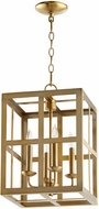 Quorum 6732-4-80 Cuboid Aged Brass 12  Foyer Lighting