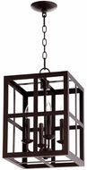 Quorum 6732-4-86 Cuboid Oiled Bronze 12  Foyer Light Fixture
