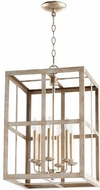Quorum 6732-6-60 Cuboid Aged Silver Leaf 15  Foyer Lighting Fixture