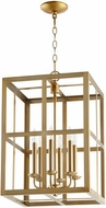Quorum 6732-6-80 Cuboid Aged Brass 15  Foyer Light Fixture