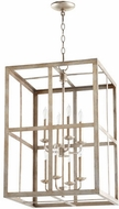 Quorum 6732-8-60 Cuboid Aged Silver Leaf 18  Entryway Light Fixture