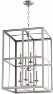 Quorum 6732-8-65 Cuboid Satin Nickel 18  Foyer Light Fixture
