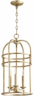 Quorum 6733-3-60 Toque Aged Silver Leaf 12.25  Foyer Lighting