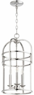 Quorum 6733-3-62 Toque Polished Nickel 12.25  Foyer Light Fixture