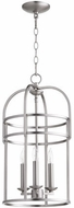 Quorum 6733-3-65 Toque Satin Nickel 12.25  Foyer Lighting Fixture