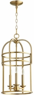 Quorum 6733-3-80 Toque Aged Brass 12.25  Entryway Light Fixture