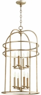Quorum 6733-8-60 Toque Aged Silver Leaf 18.25  Foyer Lighting Fixture