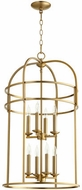 Quorum 6733-8-80 Toque Aged Brass 18.25  Foyer Light Fixture