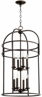 Quorum 6733-8-86 Toque Oiled Bronze 18.25  Foyer Lighting Fixture