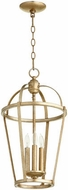 Quorum 6734-3-60 Mitre Aged Silver Leaf 12  Entryway Light Fixture