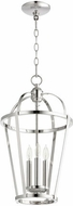 Quorum 6734-3-62 Mitre Polished Nickel 12  Foyer Lighting