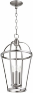 Quorum 6734-3-65 Mitre Satin Nickel 12  Foyer Light Fixture