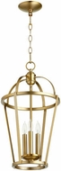 Quorum 6734-3-80 Mitre Aged Brass 12  Foyer Lighting Fixture