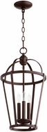 Quorum 6734-3-86 Mitre Oiled Bronze 12  Entryway Light Fixture