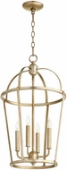 Quorum 6734-4-60 Mitre Aged Silver Leaf 15  Foyer Lighting