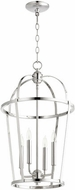 Quorum 6734-4-62 Mitre Polished Nickel 15  Foyer Light Fixture