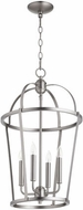 Quorum 6734-4-65 Mitre Satin Nickel 15  Foyer Lighting Fixture