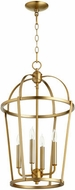 Quorum 6734-4-80 Mitre Aged Brass 15  Entryway Light Fixture