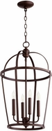Quorum 6734-4-86 Mitre Oiled Bronze 15  Foyer Lighting