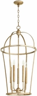 Quorum 6734-5-60 Mitre Aged Silver Leaf 18  Foyer Light Fixture