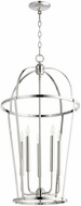 Quorum 6734-5-62 Mitre Polished Nickel 18  Foyer Lighting Fixture