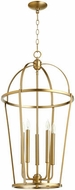 Quorum 6734-5-80 Mitre Aged Brass 18  Foyer Lighting